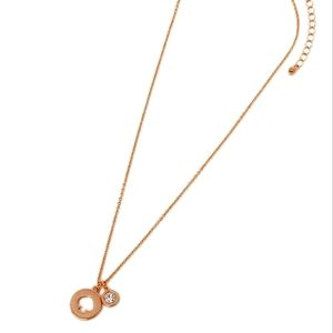 Kate Spade Necklace Rose Gold Spot The Spade NWT